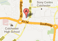 Map of Colchester - Acupuncture Clinic